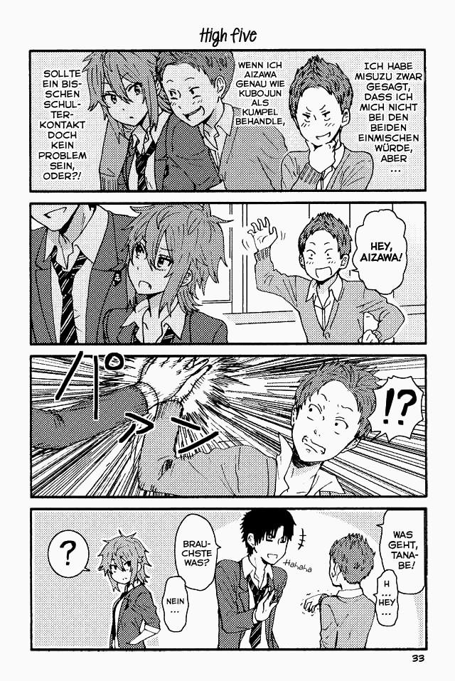 Tomo-chan wa onna no ko - 033 - High five